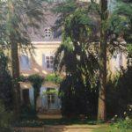 サンドの別荘。Vicente Santaolariaによる絵画。