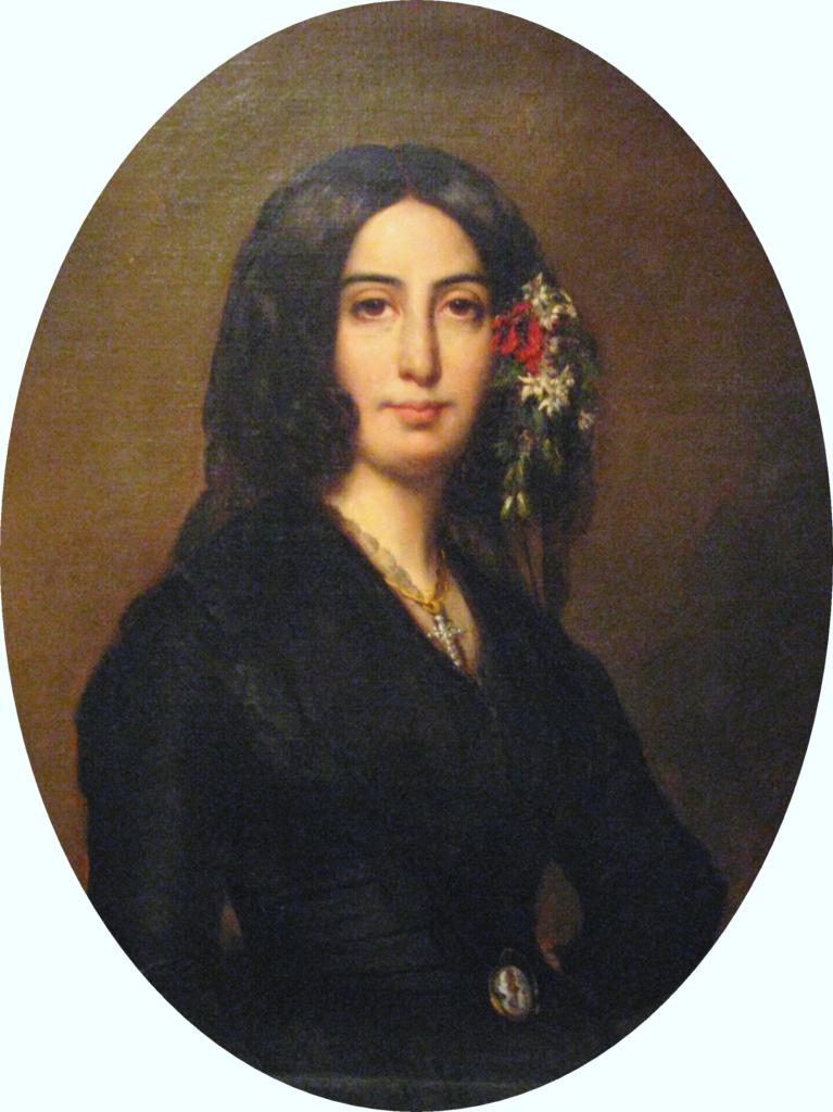 ジョルジュ・サンド1838年オーギュスト・シャルパンティエによる肖像画