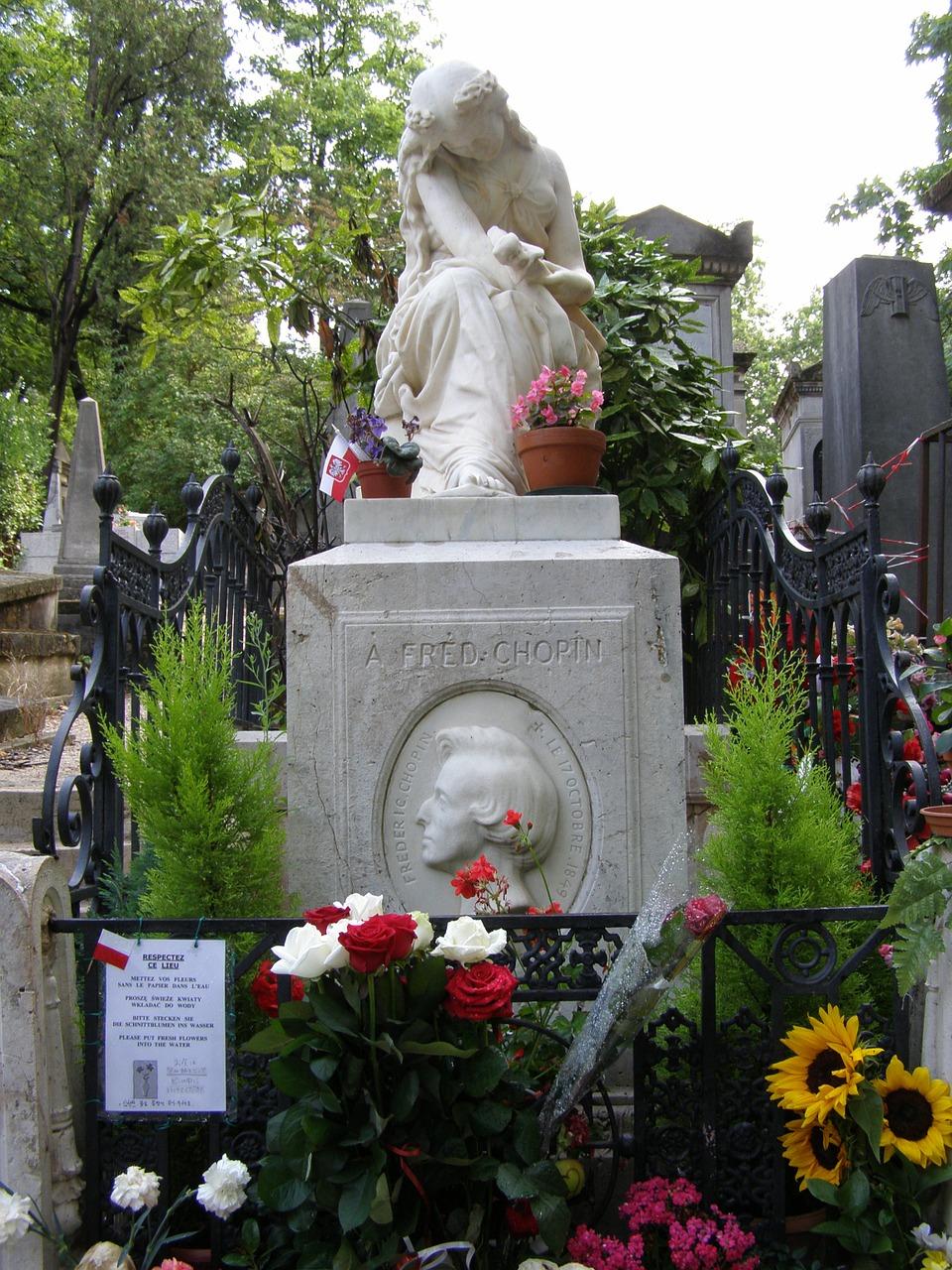 ショパンの墓 フランス,パリ,ペール・ラシェーズ墓地