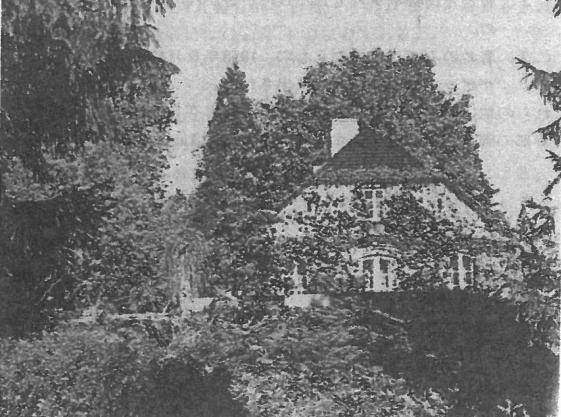 ジェラゾヴァ・ヴォーラ。南側から望んだショパンの生家。