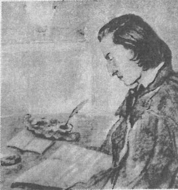 31歳のショパン。ジョルジュ・サンドによる鉛筆画。ワルシャワ,ショパン協会所蔵。