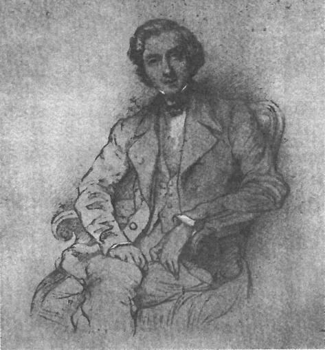 37歳のショパン。シャルル=アンリ・レフマンによる肖像画の模写。