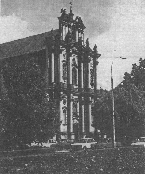 ショパンが毎週日曜日のミサでオルガニストを務めた,ワルシャワ,ヴィジトカ姉妹教会。