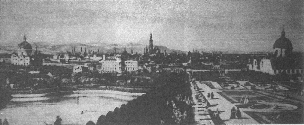 ショパンが訪れた,19世紀前半当時のウィーン市街。