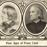 左から少年期・青年期・壮年期・老年期のリスト