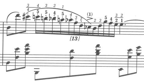 ノクターンOp.9-2(エキエル版16小節目)太字の運指はショパンが自ら書き遺したものです。エキエル版では,ショパンオリジナルの運指は太字で,編集者(エキエル氏)が書き加えた運指は細字で示されており,大変便利です。