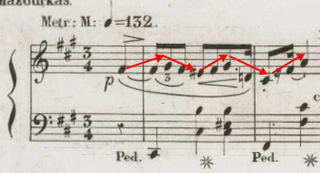 マズルカOp.6-1(フランス初版)