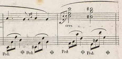 ノクターンOp.48-2の122-123小節目(フランス初版)