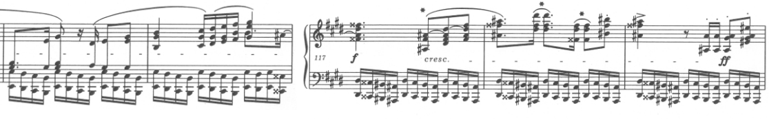 エキエル版 アーティキュレーションが自筆譜と完全に一致している。