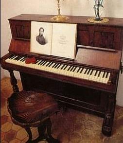 マジョルカ島にあるショパンのピアノ