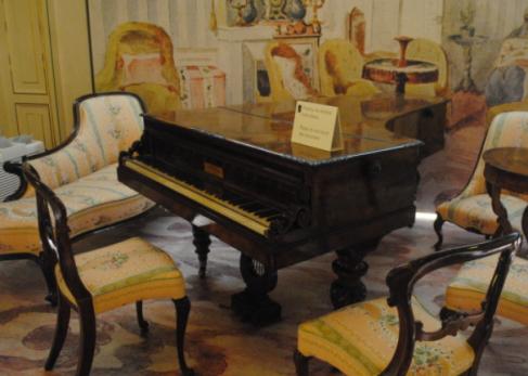 ショパンが亡くなる2年前から使用していたピアノ
