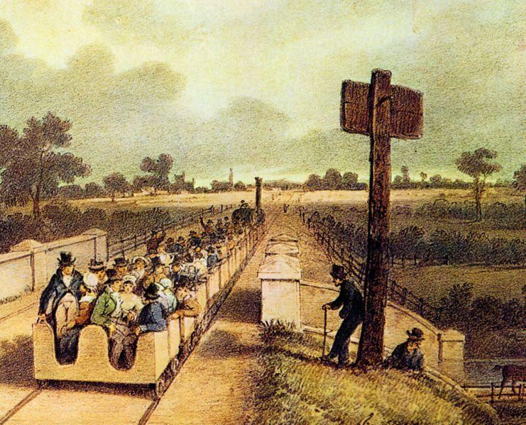 リバプール・アンド・マンチェスター鉄道の開業記念列車(1830年)