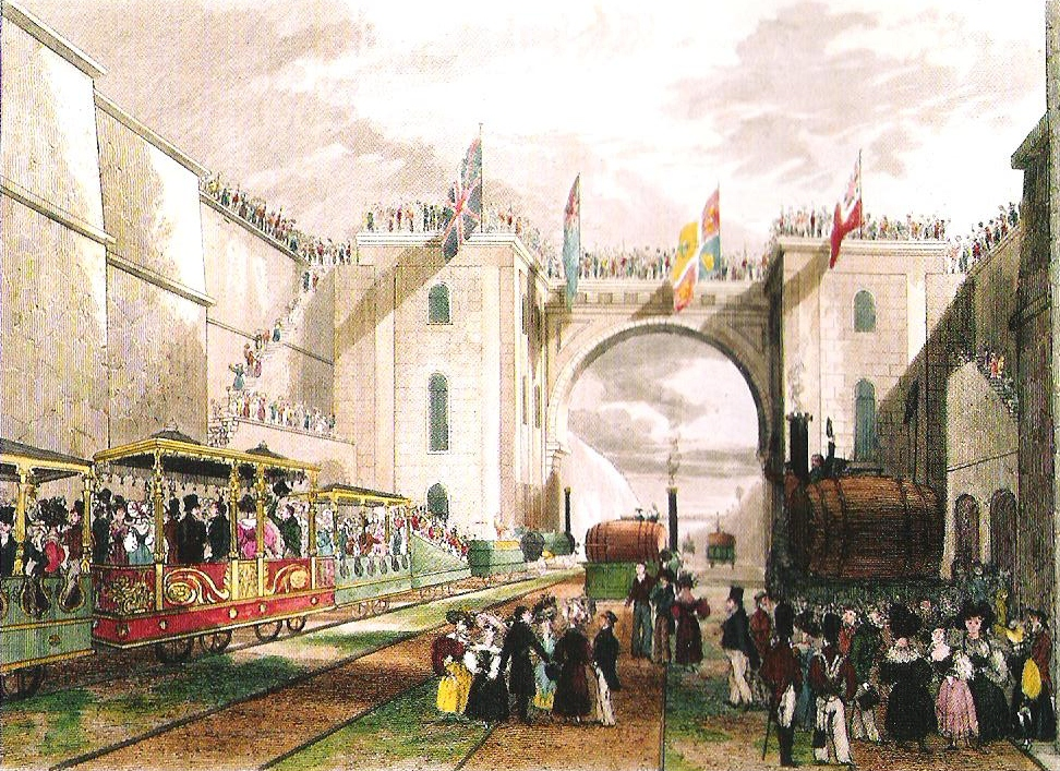 リバプール・アンド・マンチェスター鉄道の開通式(1830年)