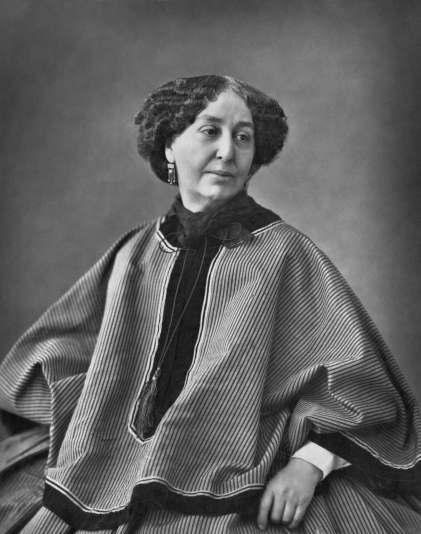 ジョルジュ・サンド 1864年,ナダールによる写真。