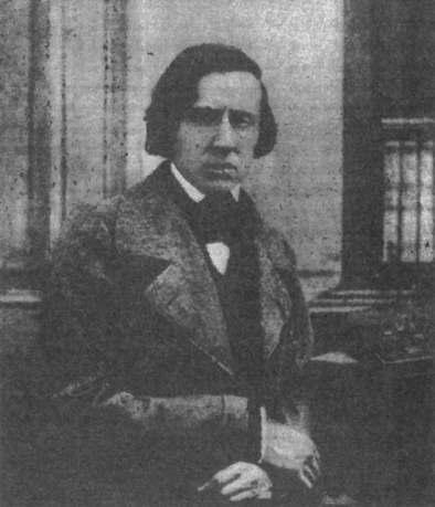 ショパン唯一の写真。1849年,ルイ=オーギュスト・ビソンによって撮影。