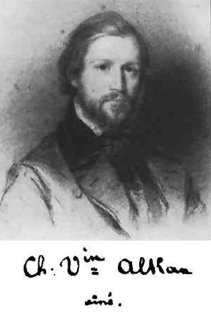 アルカンの肖像画とサイン