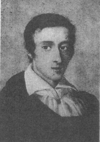 アンプロジ・ミェロシェフスキによる19歳のショパンの肖像画。