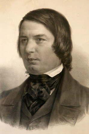 ロベルト・シューマン アドルフ・フォン・メンツェルによる肖像画